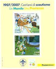 2007 Foglietto Scout Cento Anni di Scoutismo MNH Italia Bf 44