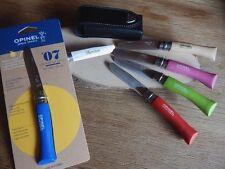 Opinel Kindermesser mit Leder-Gürteletui und kostenloser Laser-Gravur auf Klinge