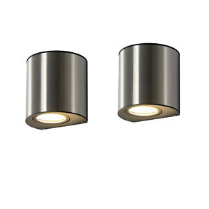 2X In&Outdoor Up&Down Wall Light Garden Yard Lamp Stainless Steel IP44