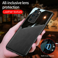 For Huawei P40 Pro P30 Pro P20 Lite Luxury PU Leather Case Car Magnetic Cover