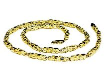 14kt solid gold handmade NUGGET link chain/necklace 24 53 grams 4.5 MM