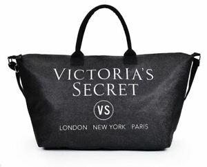 Victoria's Secret Black Metallic Ladies Beach Shopper Weekend Tote Bag lbag126