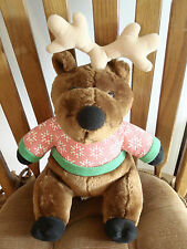 MOOSE Plush STUFFED ANIMAL TOY collectible with Snowflake Sweater
