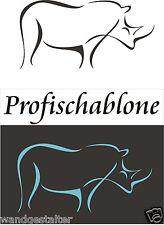 Wandschablonen, Schablone, Wandschablone, Afrikamotive - Nashorn, Grösse L - XXL