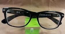 Vintage Style Eyeglasses Larger Hot Retro Black Crystal #101