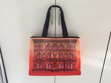 Borsa DONNA MOSCHINO LOVE SHOPPING TOTE BAG Handtasche PALAZZO Canvas Arancio
