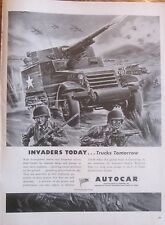 Half Track Armored Truck in Battle WWII Ad