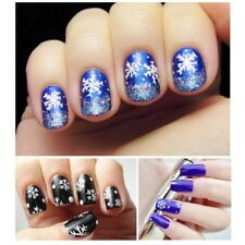 2Pcs DIY Christmas Snowflake Nail Art Tips Sticker Decal Full Wraps Decorations