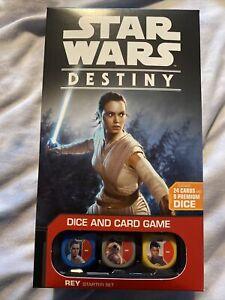Star Wars Destiny REY STARTER SET Dice & Card Game Deck NEW