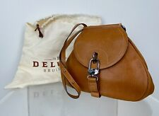 Delvaux Runway Auth Brown Medium Leather Crossbody Shoulder Messenger Dust Bag
