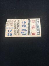 Vintage 5 22 1966 San Francisco Giants Ticket Stub Juan Marichal 8th W/25 3 Hit