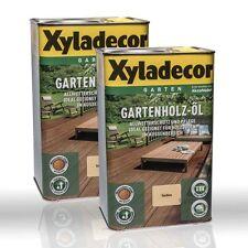 2x 2, 5l Xyladecor Giardino legno-olio Natura incolore Olio di legno per il