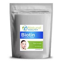 30 Pure Biotin Tablets - For hair loss, brittle nails, skin rash, weight loss.