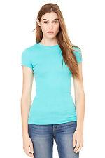 OVERSTOCK! New Bella Ladies Sheer Mini-Rib Longer Length T-Shirt XL Teal