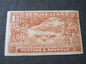 NEW ZEALAND  1900  1 1/2d CHESTNUT  IMPERF (Single)  SG 275b  MINT HINGED
