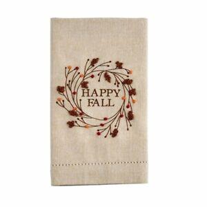 Mud Pie H0 Thanksgiving Happy Fall 20x14'' Hand Cotton Towel 44000037