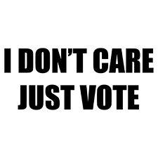 Just Vote Decal - Politics Phrases Choose Color Size