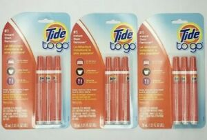 (Lot of 3) Tide to Go Instant Stain Remover Pen 3 Pack (9 pens Total) New/Sealed