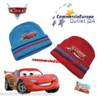 CAPPELLO CARS CUFFIA BERRETTO  INVERNALE BAMBINO BIMBO NEW STOCK