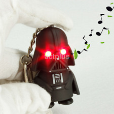 Red Light Up LED Star Wars Darth Vader With Sound Keyring Chic Gift US