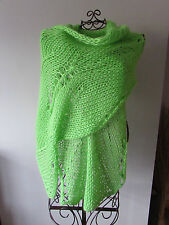 UNIQUE* Hand knitted chunky,big & soft lace wool scarf / shawl / wrap
