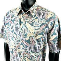 Vintage Reyn Spooner Mens XL Hawaiian Short Sleeve Shirt Reverse Print Floral