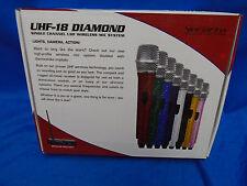 Vocopro UHF-18-Diamond-Pink UHF Wireless Microphone/Mic System+Pink Crystal Mics
