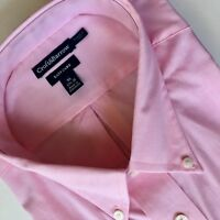CROFT & BARROW Dress Shirt NWT Mens Pink Short Sleeved Easy Care Oxford