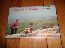 Brochure for Canadian Lakehead Fort William Port Arthur Ontario