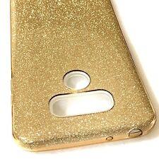 For LG G6 - HARD TPU RUBBER SKIN PHONE CASE COVER GOLD GUMMY GLITTER BLING SHEET