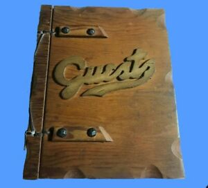 Vintage Wood Guest Book Wooden Cover 1945 - 1957