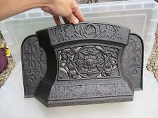Antique Fireplace Iron Fender Front Grate Tidy Betty Old Gothic Victorian 1886