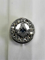 Freemasons Masonic Shirt Button Covers SILVER  with SC&G Set of 5 button covers