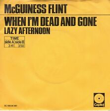 7inch McGUINESS FLINT when I'm dead and gone YELLOW COVER DUTCH EX+ (S0446)