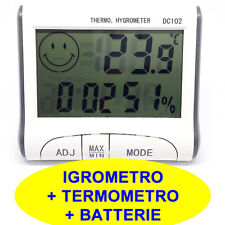 DC102 Digitale Termometro Igrometro Misuratore umidità Temperatura Orologio