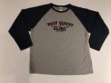 Mens Walt Disney World. Large Gray Long Sleeve Shirt Mickey Embroidered