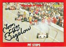 Tom Bigelow signed 1992 LEGENDS OF INDY trading card RACING CART #85 PIT STOPS