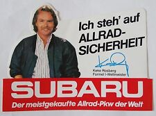 Aufkleber SUBARU Keke Rosberg 4WD 4x4 Impreza Legacy 80er Jahre Sticker Decal