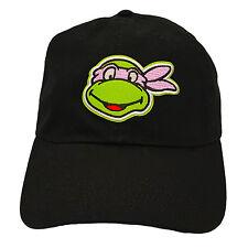 Donatello Teenage Mutant Ninja Turtle Black Adjustable Dad Hat TMNT Cowabunga