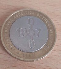 RARE MISPRINT £2 POUND COIN 1807 2007 ABOLITION OF THE SLAVE TRADE MINTING ERROR