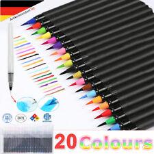 20 Farben Pinselstifte Wasserfarben Pinsel stift Set Malen Zeichnen Kalligrafie