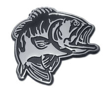 Bass Fish Metal Auto Emblem