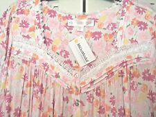 EILEEN WEST WOMANS FLORAL PRINT SHORT NIGHTGOWN--SIZE  MED.