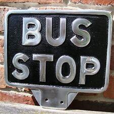 BUS STOP sign flag sign cast aluminium VW bus splitscreen garage vintage VAC150