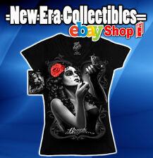 DGA - Clothing David Gonzalez Art BONITA Women's Medium V-Neck Graphic T-Shirt