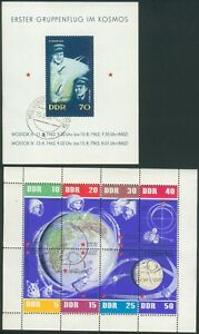 East Germany Set 5 Block´s Mi.-No.17,20,21,22+KB926-33 Weltraum/Astronaut/Space