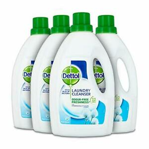 Dettol Antibacterial Laundry Cleanser Additive, Fresh Cotton, Multipack of 4 x