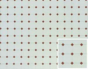 Dolls House Terracotta Diamond Tile Moulded Plastic Flooring Sheet 1:12 Scale