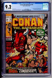 CONAN THE BARBARIAN #10 CGC NM- 9.2 BARRY SMITH ART KING KULL