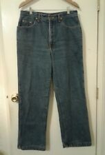 WOMENS 100% COTTON PURPLE FLANNEL LINED WINTER JEANS SIZE 14 EUC